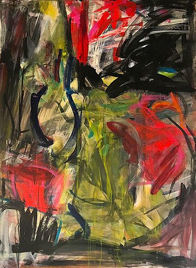 Composition Red by Judy Schneider
