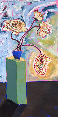 Four Flowers on a Pedestal by Terri Smith