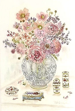71. Limoges Boxes and Roses