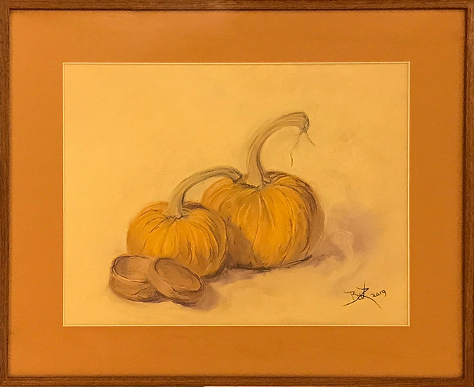 Pumpkins with Shaker Box by Beverly Rinck