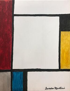 A Mondrian Square Dance by Sandra Merlini