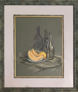 Cantaloupe with Bottles by Beverly Rinck