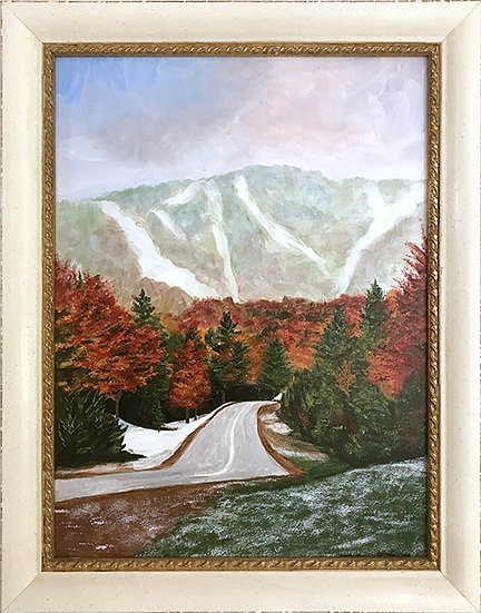 Fall Snow in Vermont by Lynda King