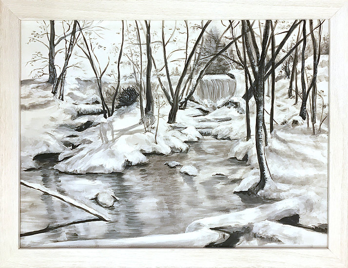 Winter at the Mill Pond by Lynda King