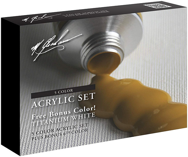 M. Graham 5 Color Acrylic Paint Set: With Bonus!