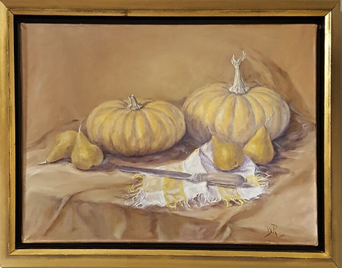Pumpkins and Pears by Beverly Rinck-SOLD