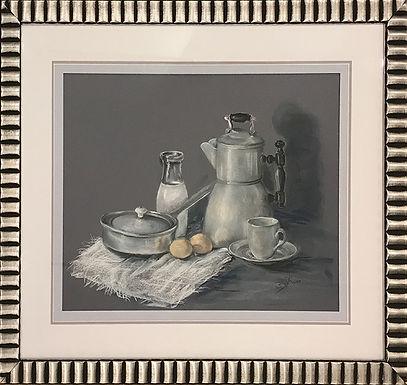 Blue Kitchen by Beverly Rinck