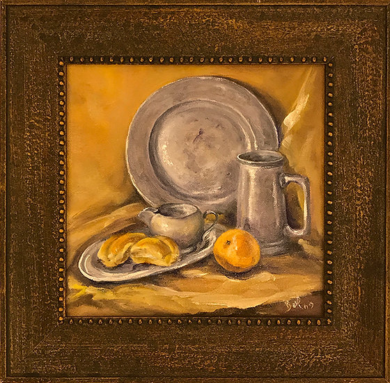 Pewter Plate by Beverly Rinck SOLD