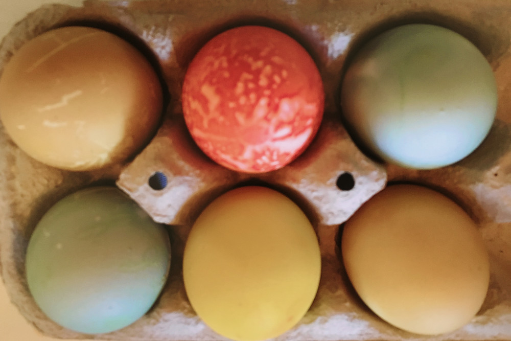 Natural Dyed Easter Eggs