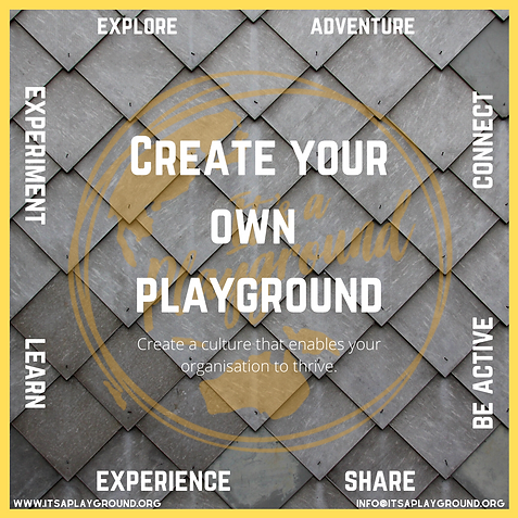 Create your own playground organisation.