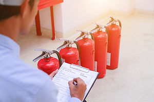 Engineer inspection Fire extinguisher an