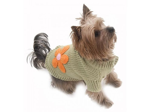 flower dog sweater