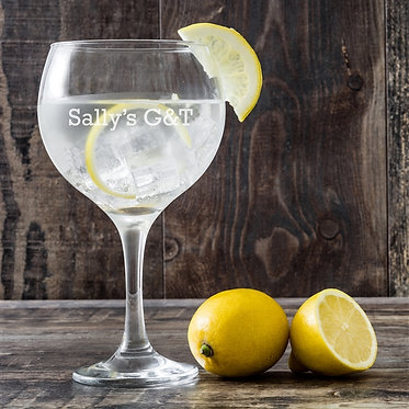 G&T glass personalised
