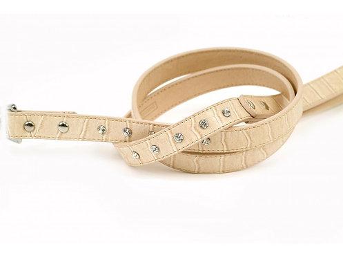 moc croc leather dog collar