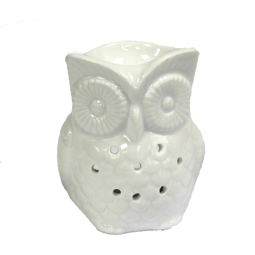 Classic white oil burner tall owl