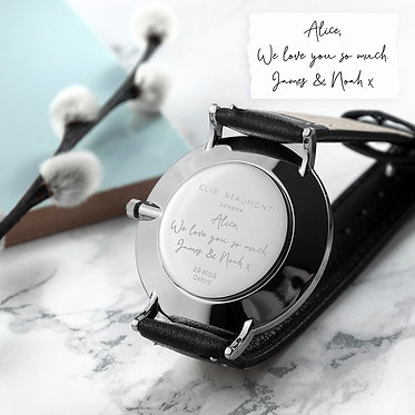handwriting engraved watches