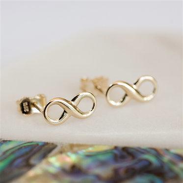 infinite earrings in solid gold