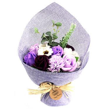 purples flower bouquet