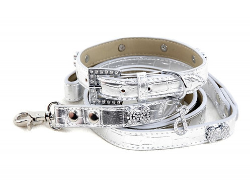 rock chic dog collar and leash