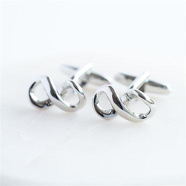 Infinity Cufflinks Silver