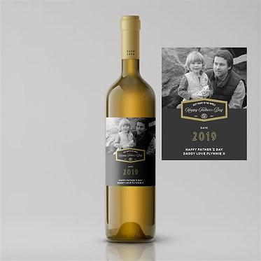 personalised photo label wines Pinot Sauvignon Chardonnay