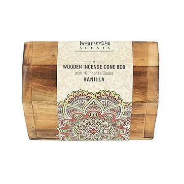 wooden incense gift box