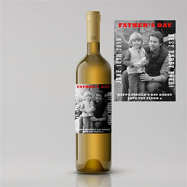 white wine personalised fathers day