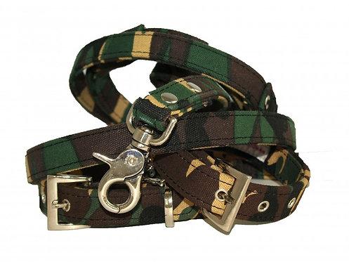 camo dog collar and lead set