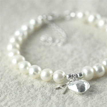 real pearl personalised bracelet