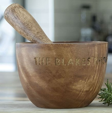 rustic spice grinder traditional personalised