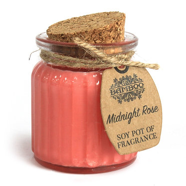 Midnight Rose Soy Pot Of Fragrance Candles (2 set)