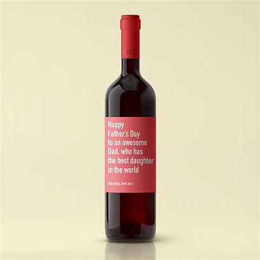 best daughter red wine personalised