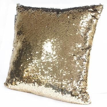 gold sequin cushion