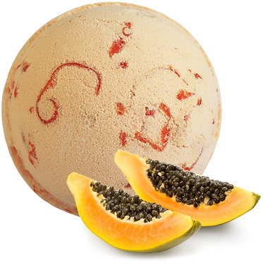 papaya bathbomb