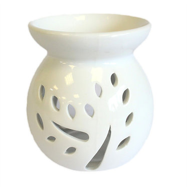 tree cut out white oil burner