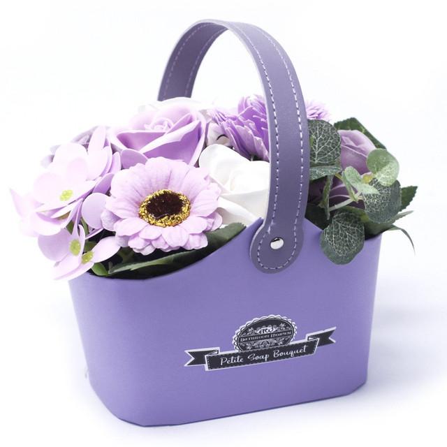 Soft Lavender - petite bouquet basket 1.