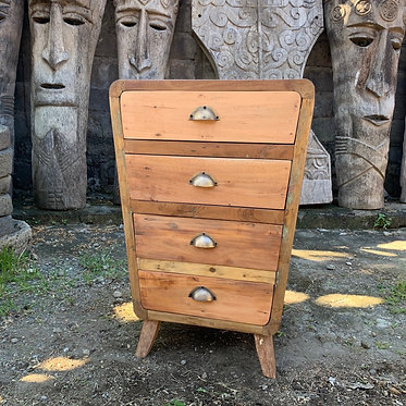 4 draw chest wooden recycled