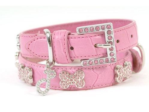 pink crystal collar