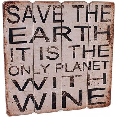 fun wine sign