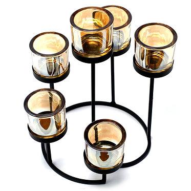 6 tealight metal holder