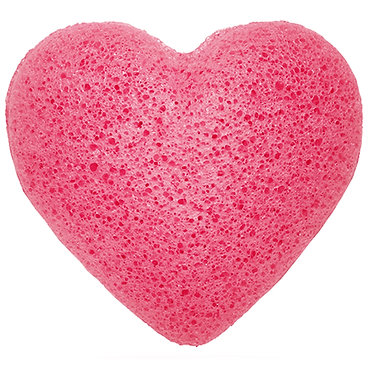 heart rose natural sponge