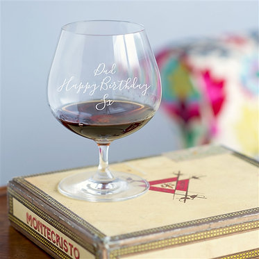 brandy snifter glass personalised gift