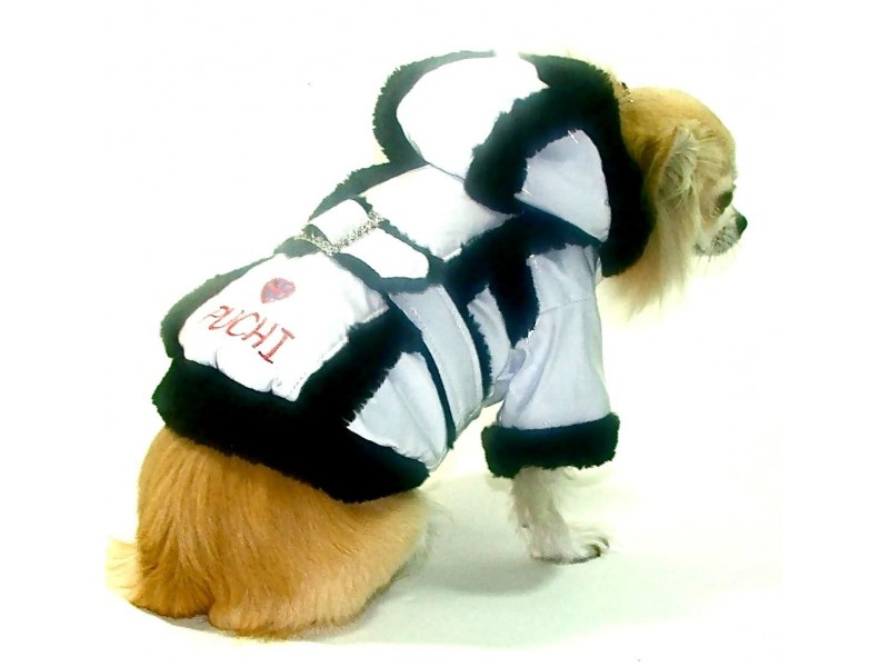 Regency White Dog Rain Coat