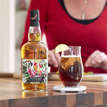 personalised label spiced rum