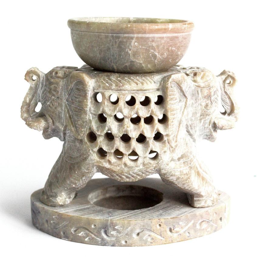 large elephant soap stone oil burner 1