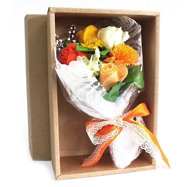 gift box soap flower orange