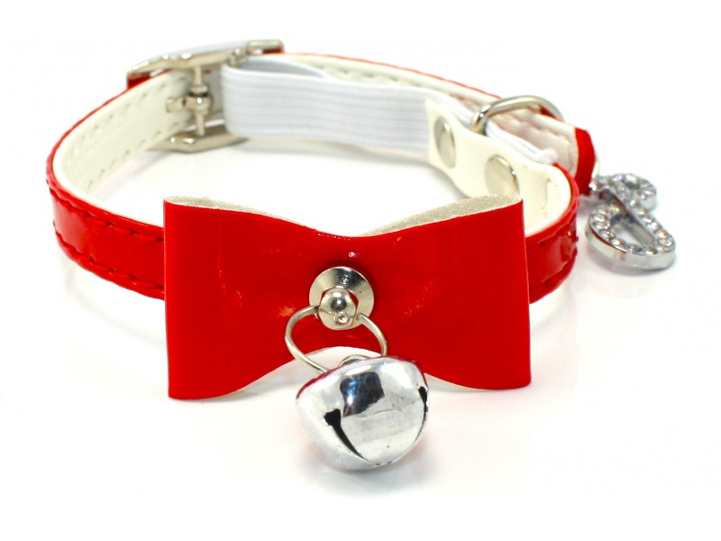 Baby Bow Red Cat Collar