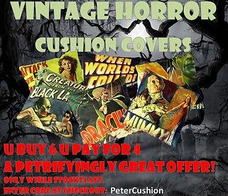 Vintage Horror cushion covers 2018.JPG