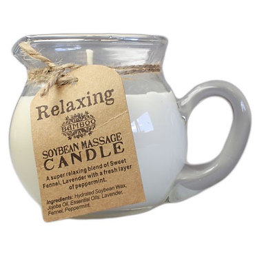 massage candle relaxing