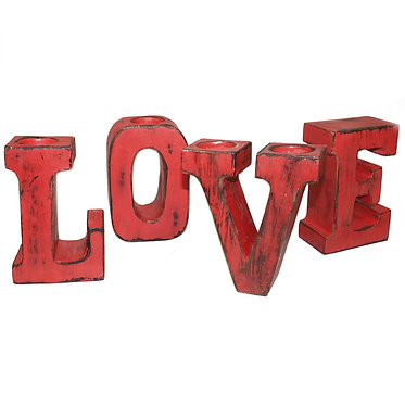 big love red distressed letters